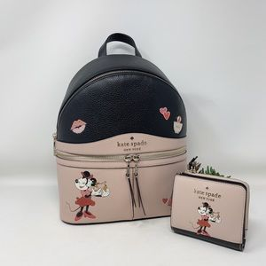 Kate Spade Minnie Mouse Medium Backpack and Wallet